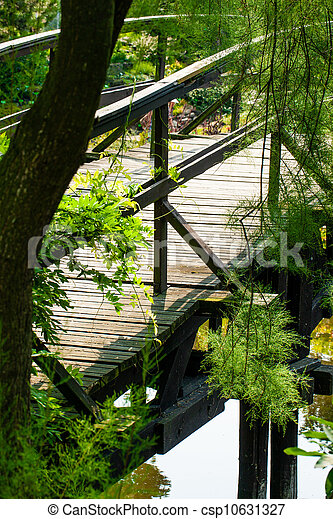 Japanese Garden Bridge - csp10631327
