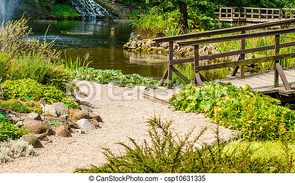 Japanese Garden Bridge - csp10631335