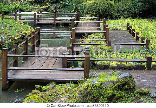 Japanese Garden Foot Bridge - csp35300110
