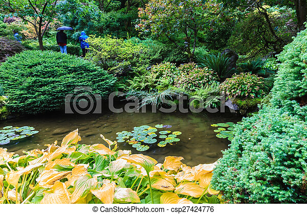 Japanese garden - csp27424776