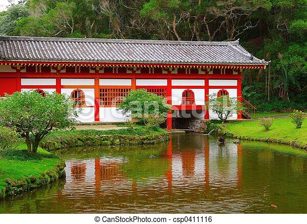 Japanese garden - csp0411116