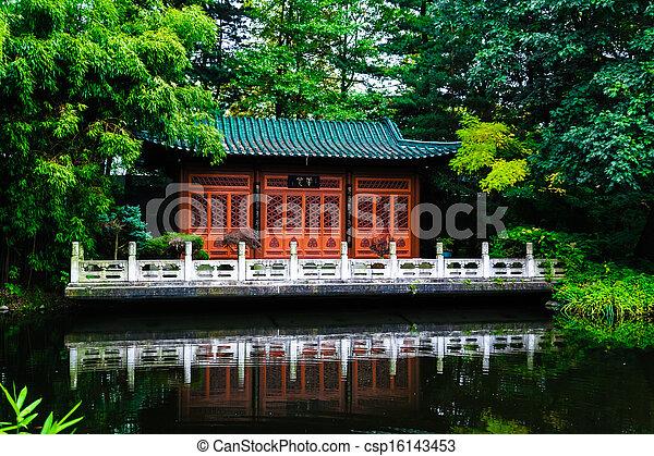 japanese garden - csp16143453