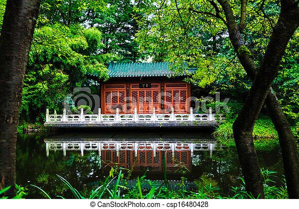 japanese garden - csp16480428