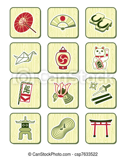 Japanese icons | BAMBOO set - csp7633522