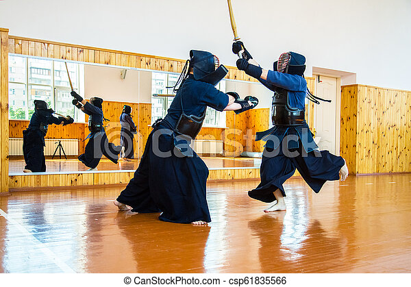 Japanese martial art of sword fighting  Sport