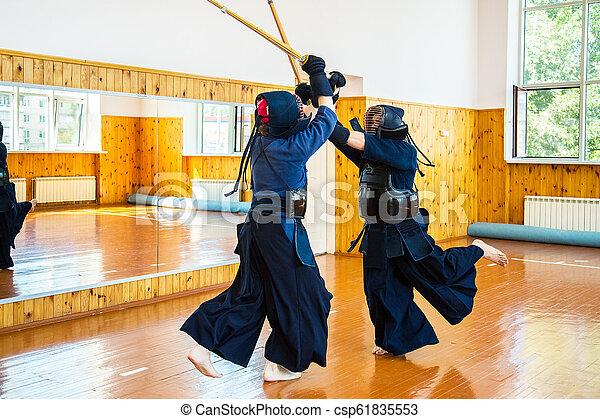 Japanese martial art of sword fighting  Sport