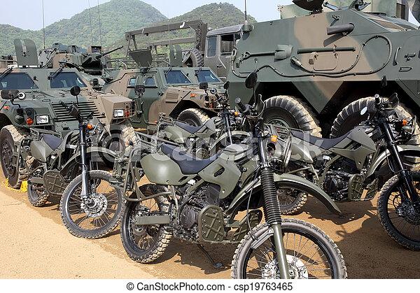Japanese military motorcycle - csp19763465