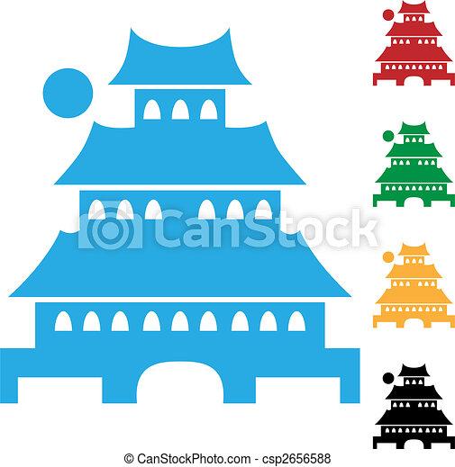 japanese pagoda icon - csp2656588