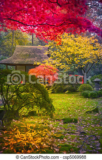 Japanese park - csp5069988