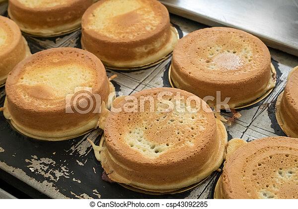 japanese red bean cake dessert on bean cake maker the group of