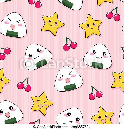 japanese rice ball pattern - csp6857694