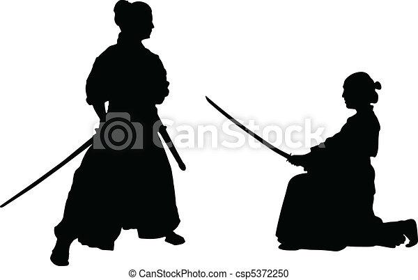 Japanese samurai - csp5372250
