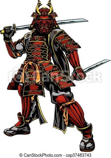 Japanese Samurai Warrior - csp37483743