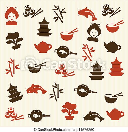 Japanese seamless pattern - csp11576250