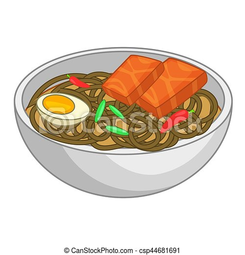 japanese soup with green tea soba noodles icon cartoon Seafood Clip Art Clip Art Beer Bread