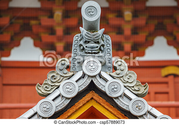 Japanese temple roof - csp57889073