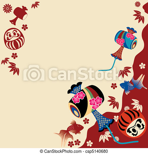 Japanese traditional card - csp5140680