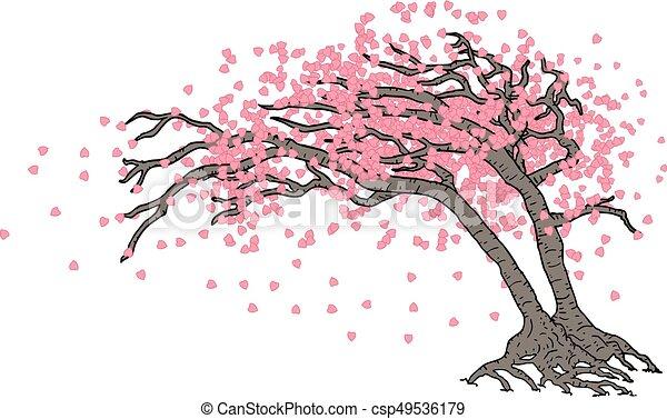 Creative design of japanese tree draw - Dessin arbre japonais ...