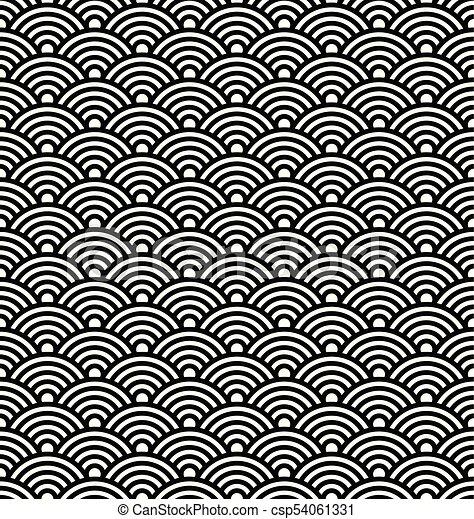 japanese vector pattern asian wave background japanese seamless rh canstockphoto com Japanese Borders Clip Art Ocean Wave Vector Clip Art