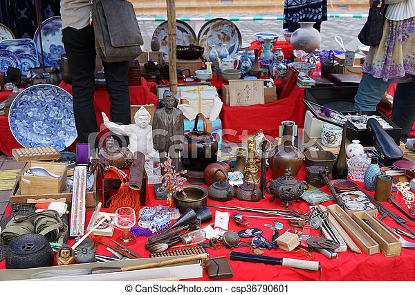 Japanese weekly flea market - csp36790601