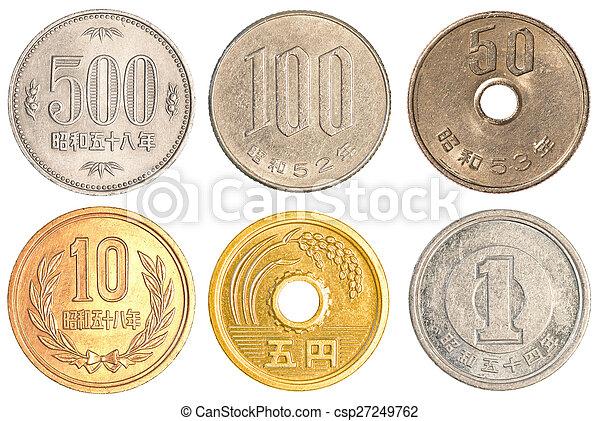 Japanese Yen coins collection - csp27249762
