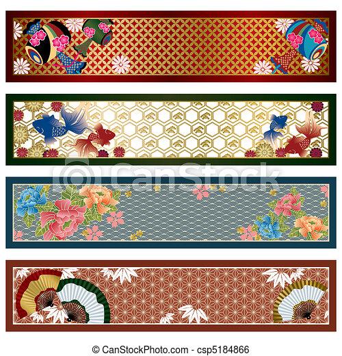 japanische banner, traditionelle  - csp5184866