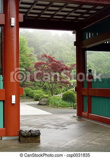 japanska trädgård - csp0031835