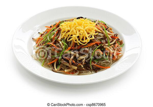 japchae, korean cuisine - csp8670965