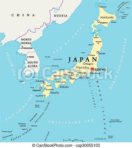 japon, politique, carte - csp30055103