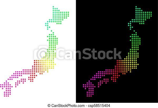 japon, spectre, point, carte - csp58515404