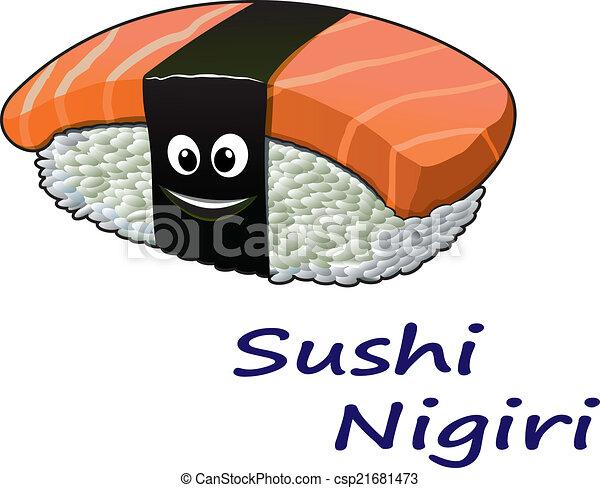japonaise, nigiri sushi, fruits mer - csp21681473
