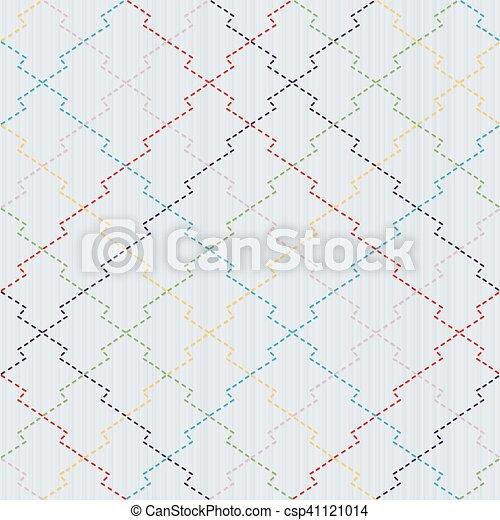 japonaise, pin, motif, pattern., écorce, seamless, sashiko