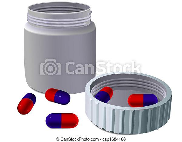 Jar for medicines - csp1684168