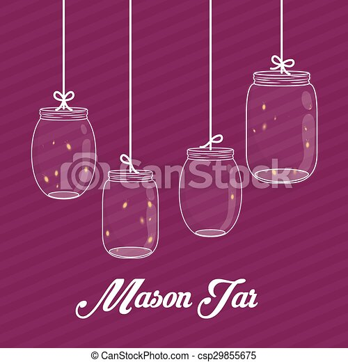 Jar mason design. - csp29855675