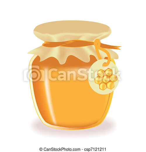 Jar of honey - csp7121211