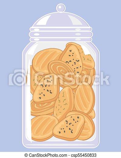 jar of indian biscuits - csp55450833