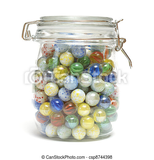 Image result for jar with marbles