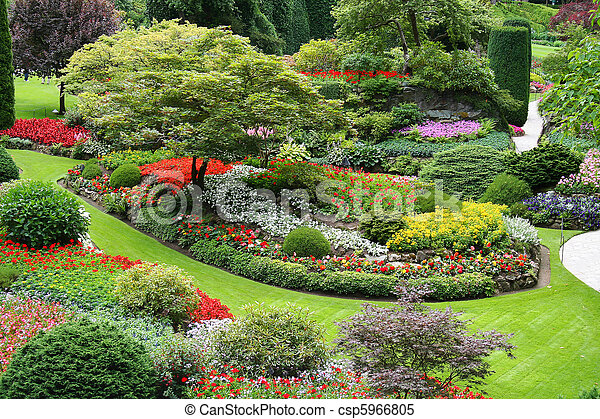 Jardín de flores - csp5966805
