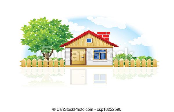 Casa y jardín - csp18222590