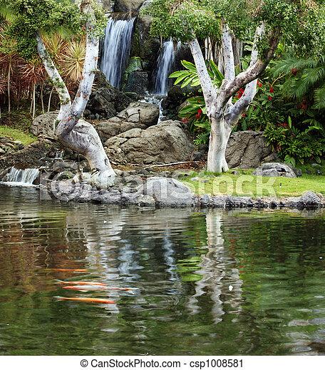 Jardín japonés - csp1008581
