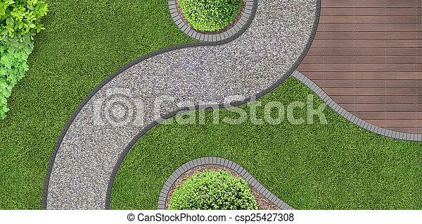 Jardín de arriba - csp25427308