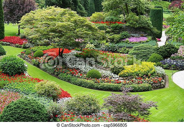 jardin fleur - csp5966805