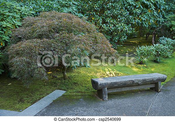 Jardin Japonais Banc Jardin Pierre Arbre Japonaise Banc