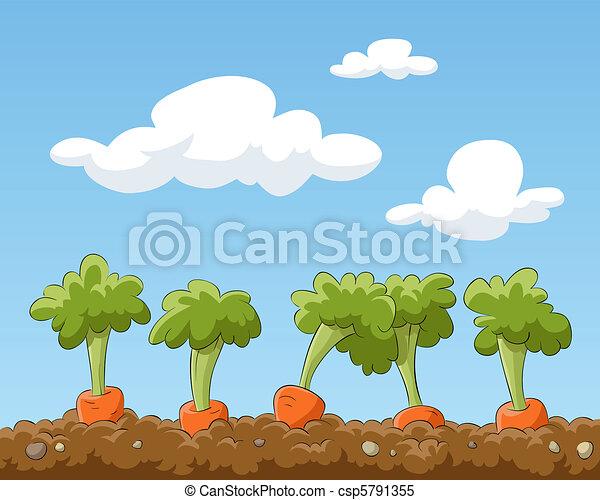 jardin, lit - csp5791355