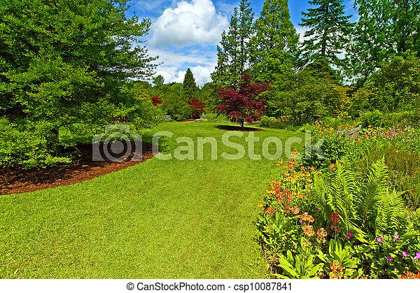 jardin, srpingtime, landscaping - csp10087841