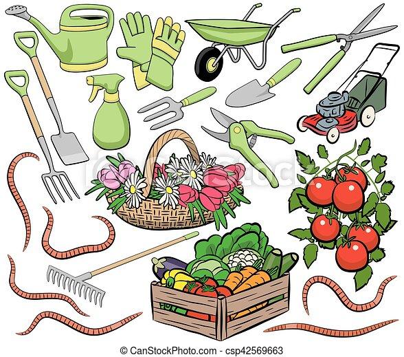 jardinage, art, agrafe - csp42569663