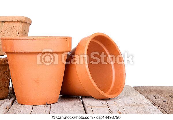 Terracotta o jardinería de arcilla - csp14493790