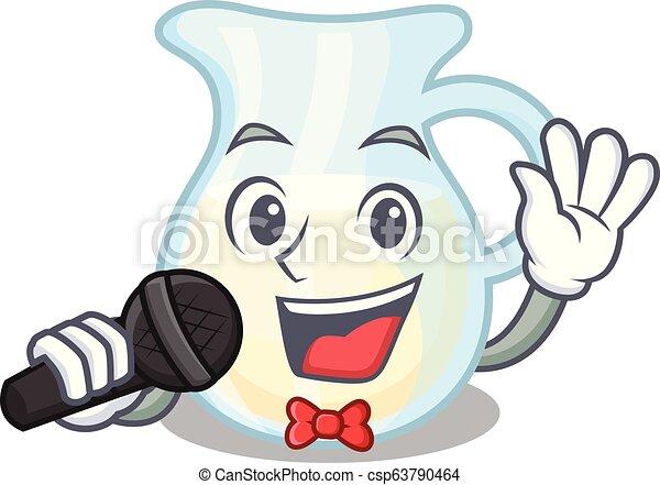 Cantante de leche llena de carácter - csp63790464