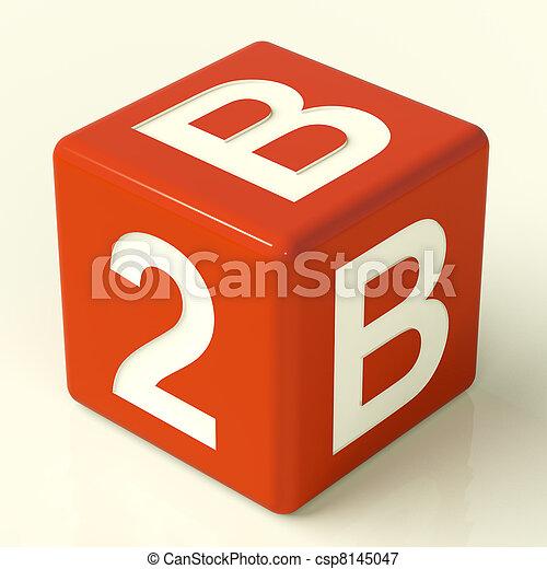 jarzyna pokrajana w kostkę, handlowy, współudział, znak, b2b, czerwony - csp8145047