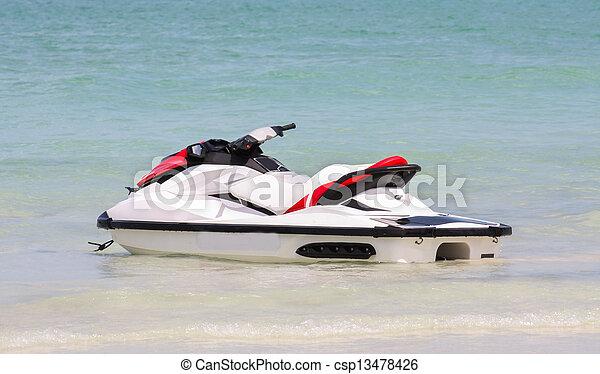 jato, scooter, água oceano, tailandia, esqui, ou - csp13478426